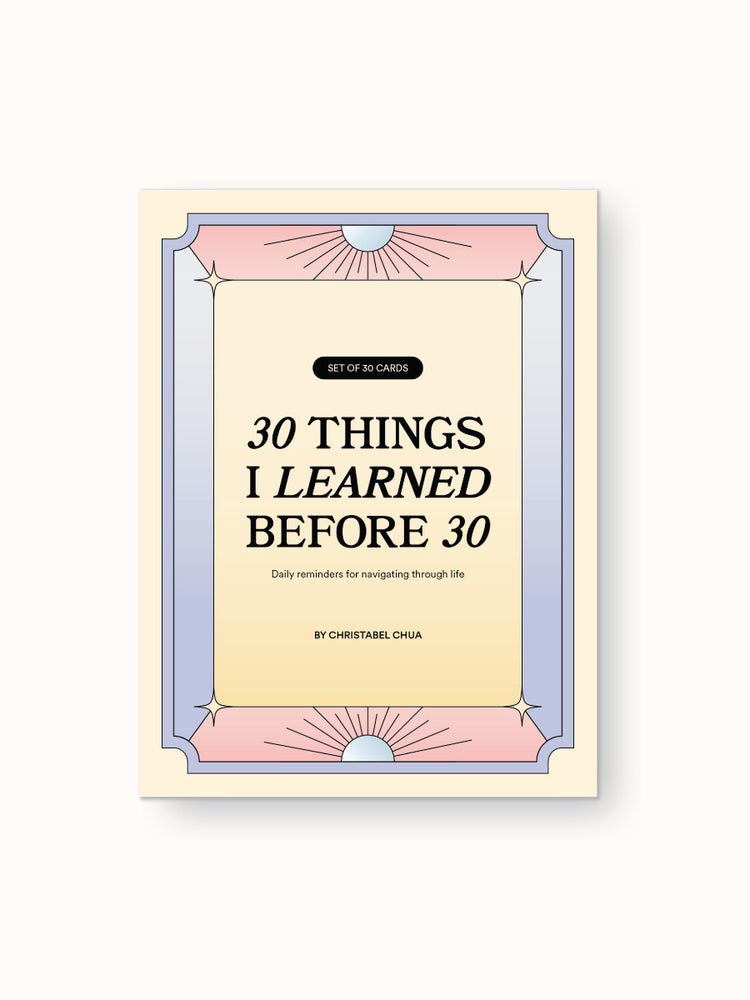 30 Things I Learned By 30: Reminder Card Set