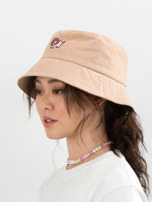 Straw-kitty Friend Bucket Hat