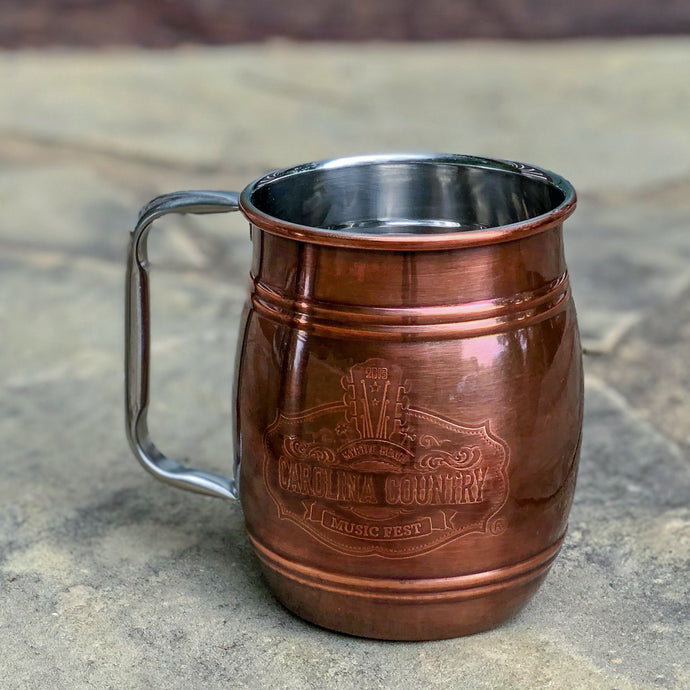 Antique Copper Barrel Mug - Carolina Country Music Fest (2019)