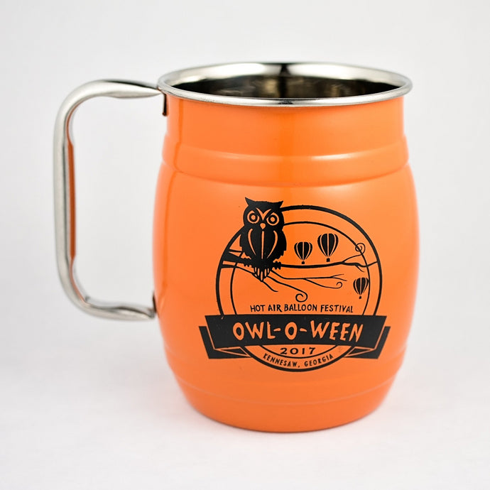 Stainless Steel Mugs - Owl-O-Ween 2017 (Barrel)