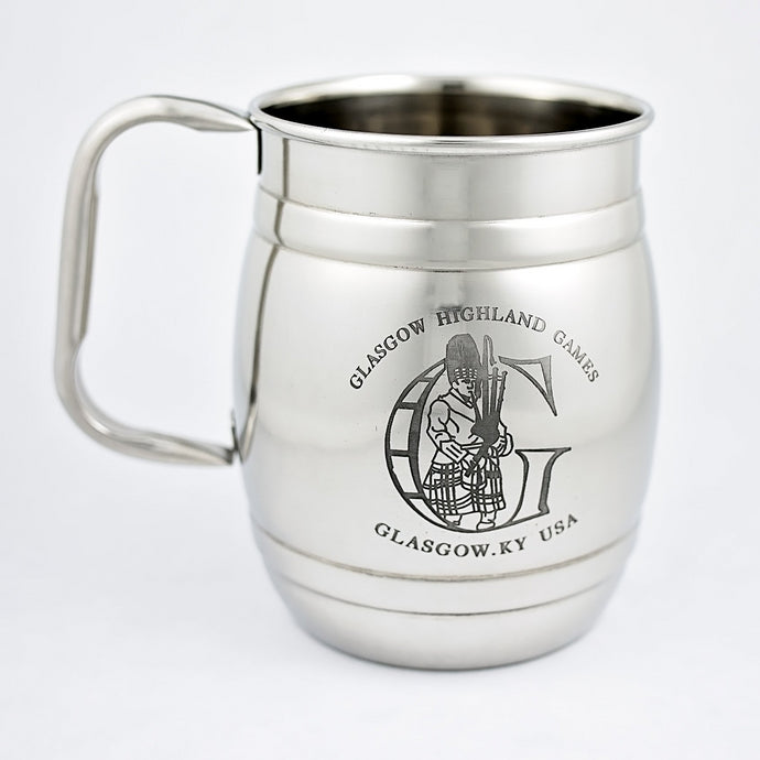 Stainless Steel Mugs - Glasgow Highland Games (Barrel)