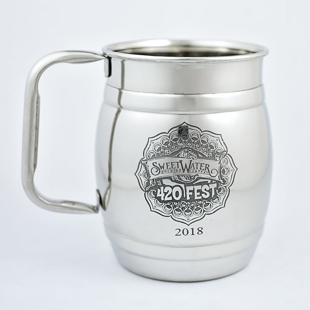 Stainless Steel Mugs - SweetWater 420 Fest 2018 (Barrel)