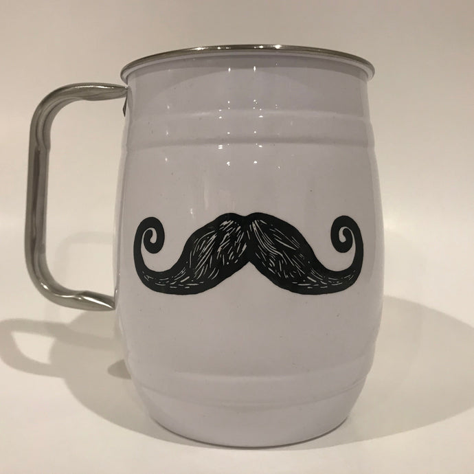 Mugstache, mug with mustache, white mug, mug mustache, smugstache