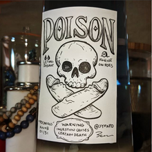 "Knobtober Day 1 - ""Poisonous"" drawing of a poison label with skull and crossbones, with the crossbones as penises"