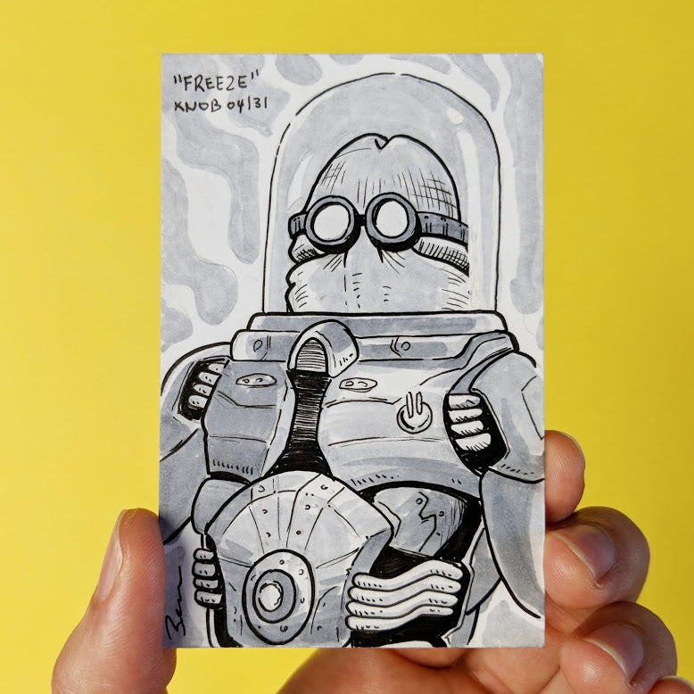 DC Comics Mr Freeze as a penis drawing