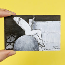 Wrecking ball with a penis as Miley Cyrus