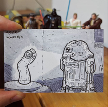 R2D2 penis drawing with Star Wars theme for Knobtober Day 8