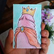 Royal penis with crown and robe - watercolor custom request penis art