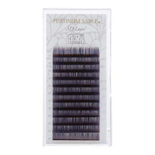 New Platinum Sable 3D Layer Lashes J-Curl 0.07mm - 6, 7, 8, 9mm mix