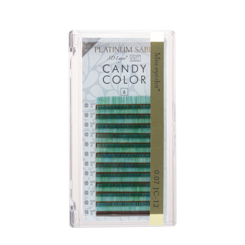New Platinum Sable Candy Color Lashes CC-Curl 0.07mm - Green