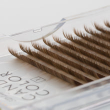 New Platinum Sable Candy Color Lashes C-Curl 0.15mm - Camel