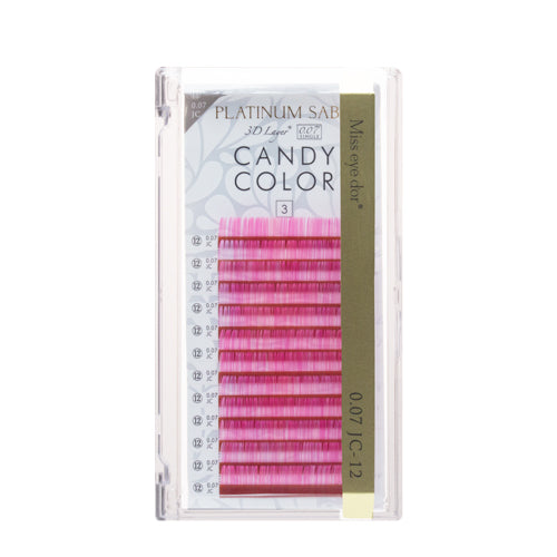 New Platinum Sable Candy Color Lashes C-Curl 0.07mm - Pink