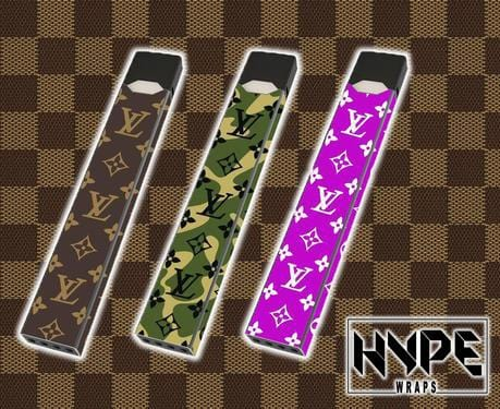 Rock Louis Vuitton with the L.V Monogram Juul Skins From HypeWraps