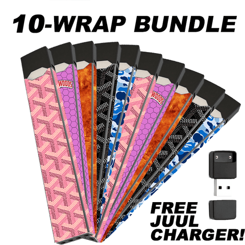 10 wrap multi wrap bundle juul skin juul