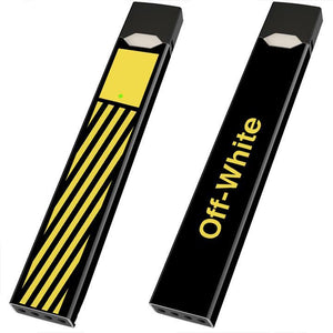 Off White Off-White Yellow Box Juul Wrap Juul Skin JuulWraps