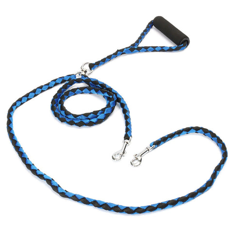 Double Braided Leash for Two Dogs