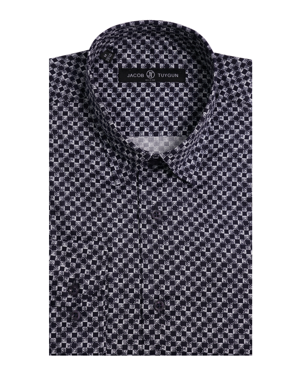JT SLIM - Checkered Black and White Print  11969-24