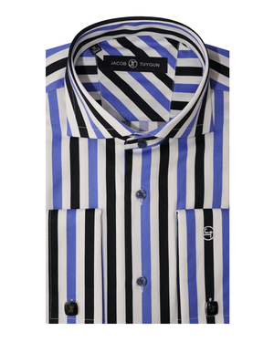 JT SLIM -  Tri Color Stripes  329-09-VD