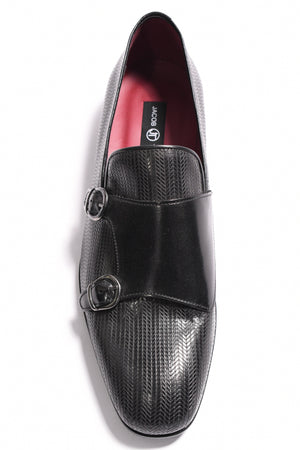 LAZER - BLACK DOUBLE MONK STRAP
