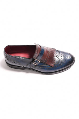PIEL LACI - TWO TONE BLUE AND BROWN