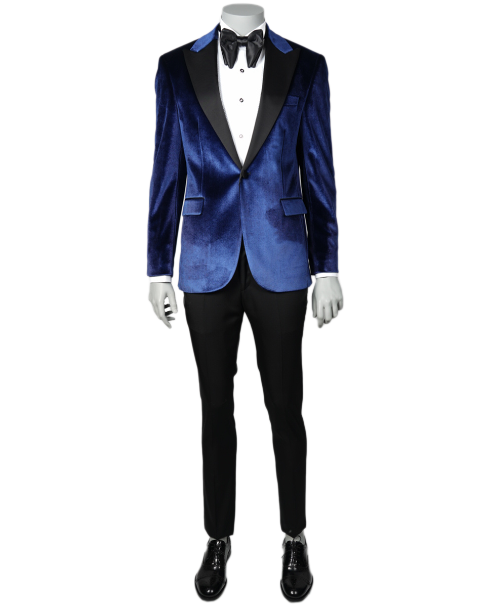 JT Maverick Blue Velvet Dinner Jacket  CAD-20-10