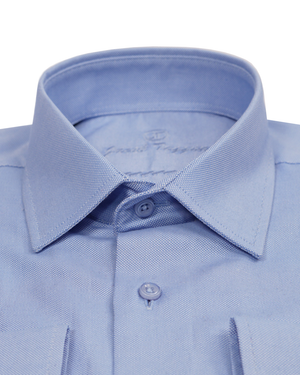 JT SLIM-Traditional Blue Oxford   OXFORD-19-VP