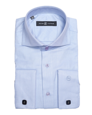 JT SLIM- Blue Oxford    OXFORD-V4
