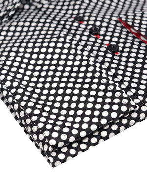 JT SLIM-Black with White Poke Dots 0107-17