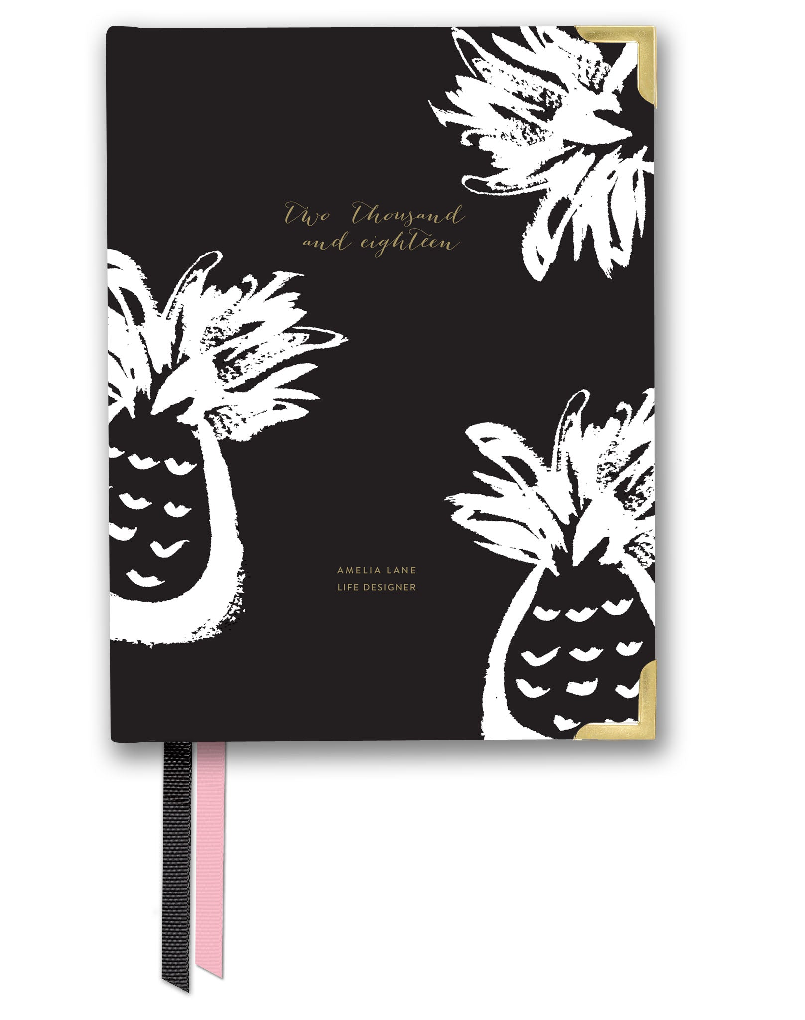 2018 Amelia Lane Life Designer, Compact Weekly (Black Pineapple)