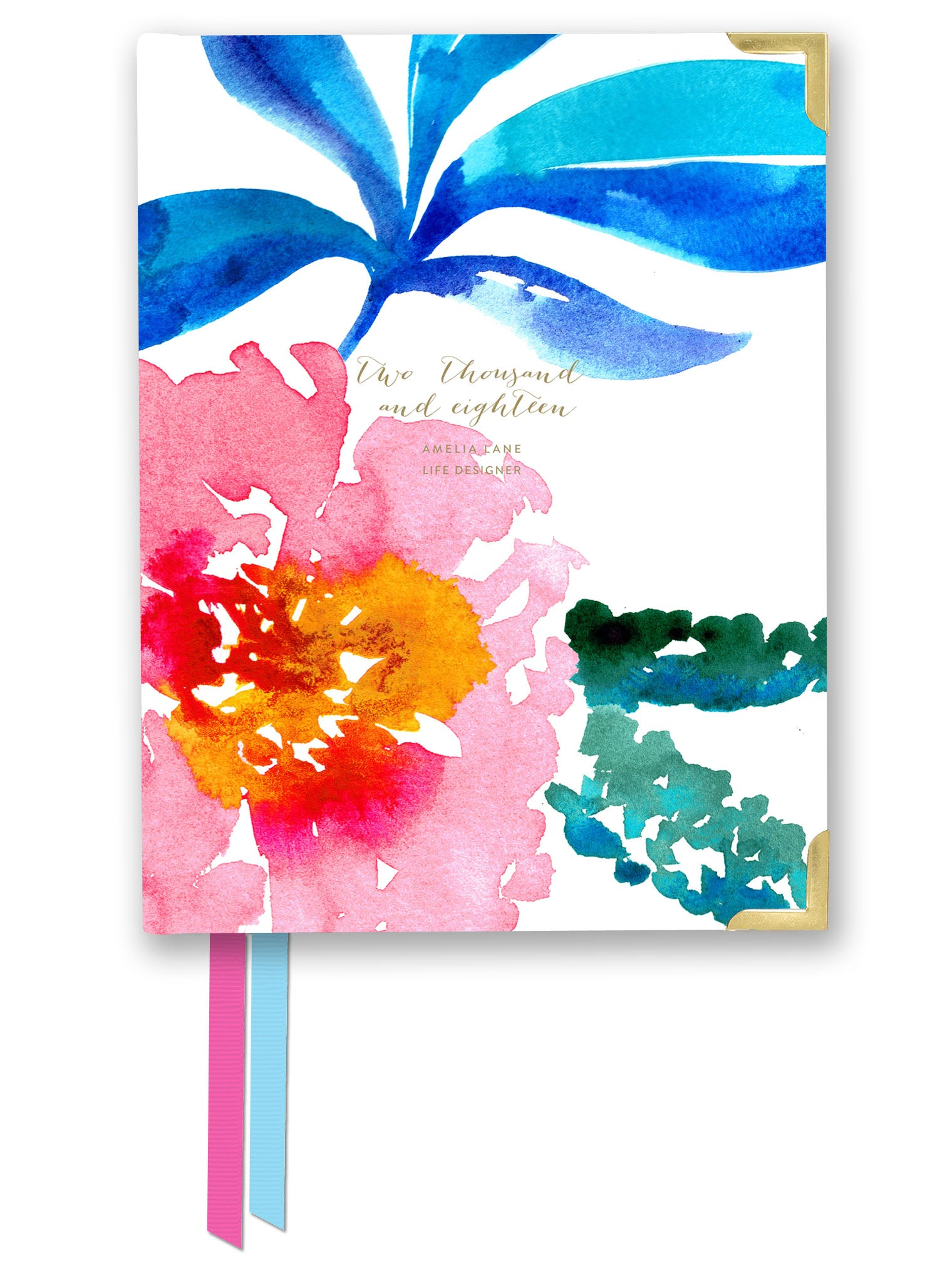 2018 Amelia Lane Life Designer, Compact Weekly (Spring Floral)