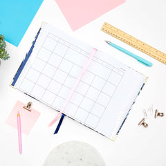 2018 Amelia Lane Life Designer, Desktop Daily (Navy Palm)