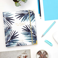 2018 Amelia Lane Life Designer, Signature Weekly (Navy Palm)