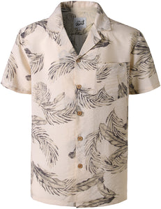 Mens Hawaiian Shirt Short Sleeve Palms Shirt STAG Beach Holiday Casual