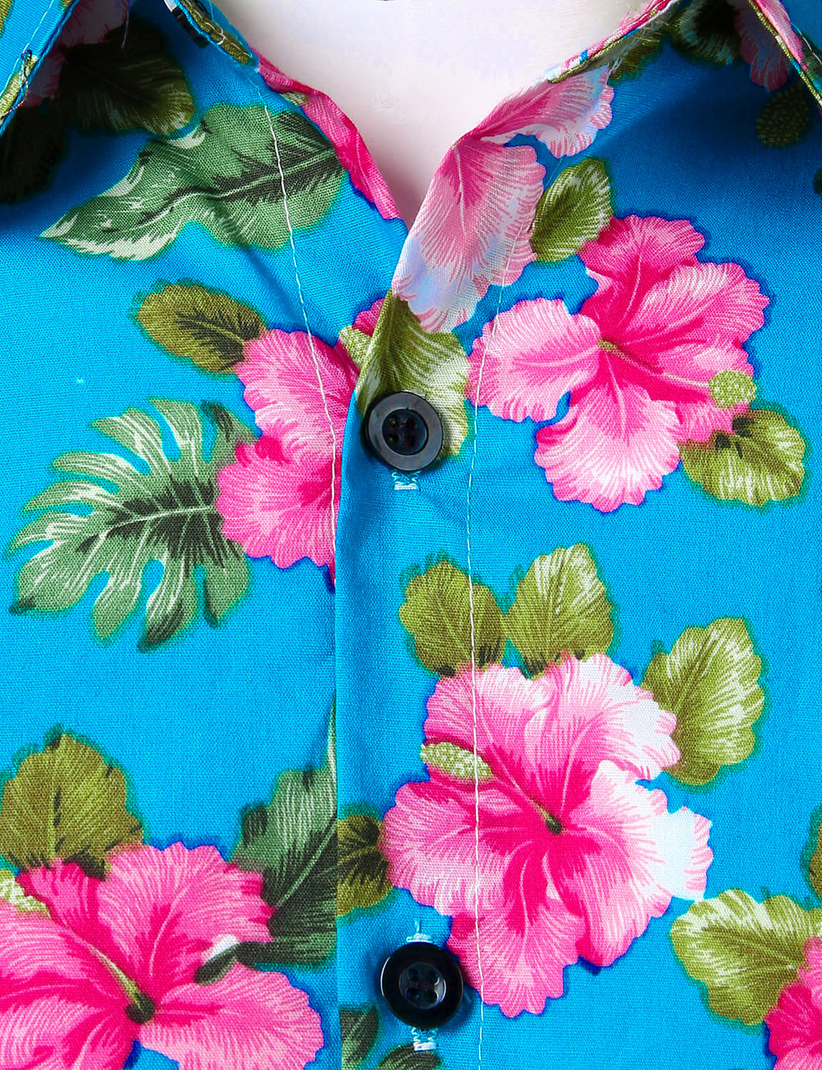 JOGAL Men's Cotton Button Down Short Sleeve Hawaiian Shirt  (Flower)