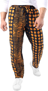 JOGAL Men's African Dashiki Boho Print Jogger Pants