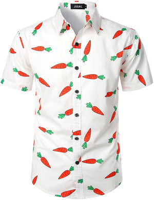 JOGAL Men's Ugly Funky Hawaiian Tropica Aloha Summer Shirts