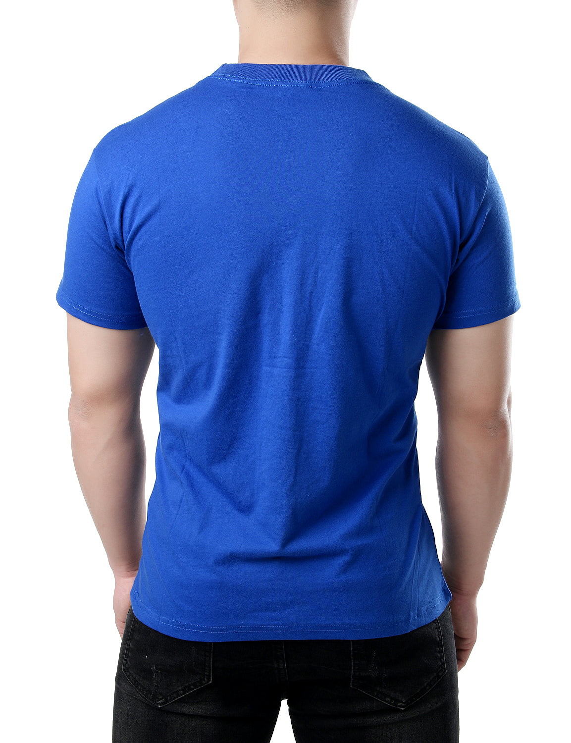JOGAL Mens Short Sleeve T Shirts Cascal Plain Pocket Tee