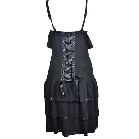 Burn Gothic Dress Ladies Black