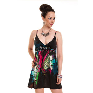 Eclipse Gothic Maxi Multi Dress