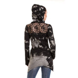 Sunset Gothic Hoodie Ladies Grey/Black