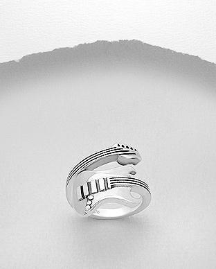 Guitar 925 Sterling Silver Ring