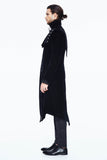 BLACK VINTAGE VELVET GOTHIC LONG COAT