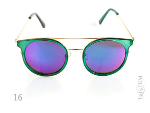 Round Vintage Mirrored  Lenses Unisex Sunglasses