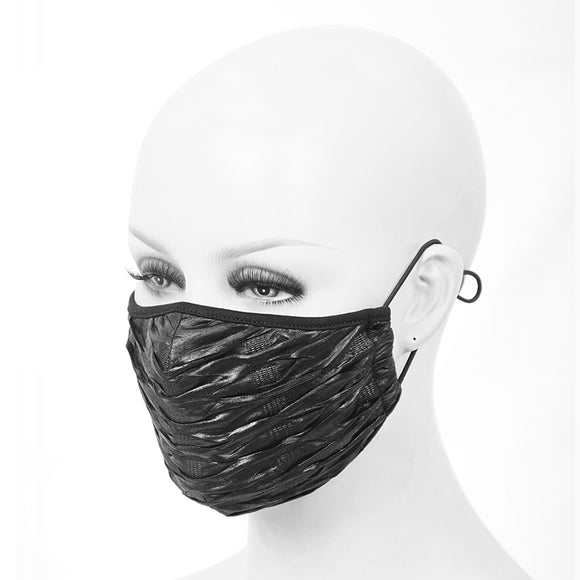 Washable Reusable Gothic Fabric Mask Wet Look Unisex
