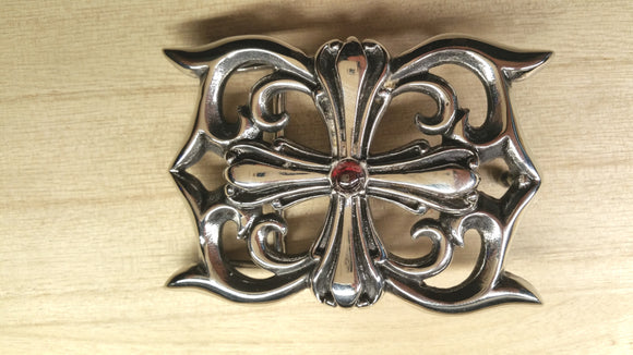 Stainless Steel Belt Buckle With 3d Cross