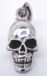 925 Sterling Silver Gothic Mini Skull Locket Pendant
