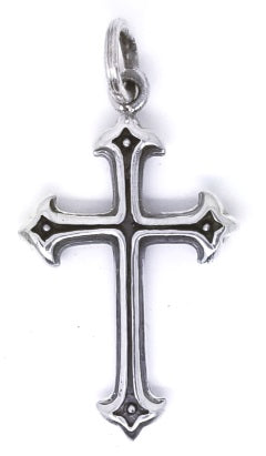 925 Sterling Silver Gothic Cross Pendant