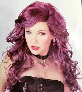 California costumes glamour witch purple Wig