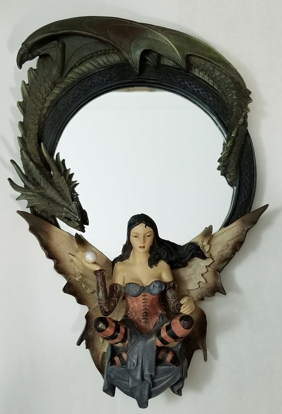 Dragon mirror with fairy