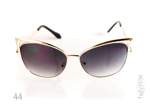 Vintage Cat Eye Metal Frame Women Sunglasses